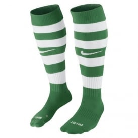 Hoops Socks (Pine Green/White)