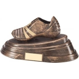 Agility Boot Football Award Antique Bronze & Gold Trophy