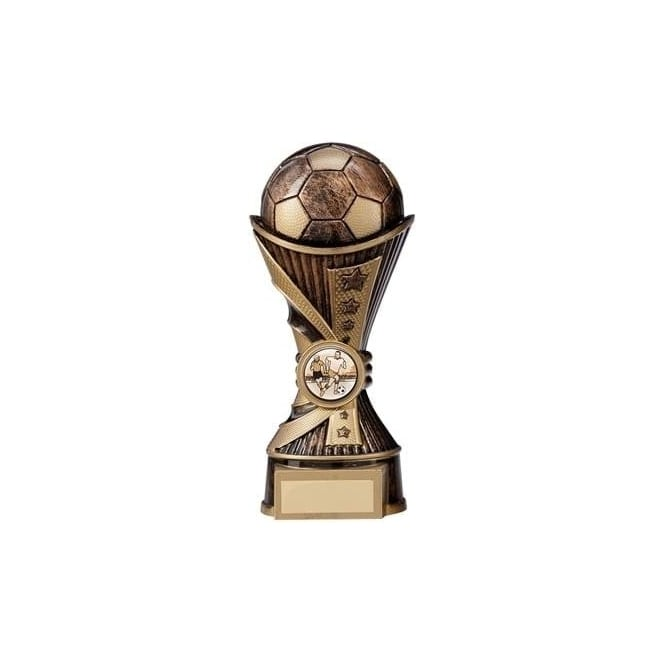 Trophies and Awards All Stars Football Heavyweight Antique Bronze & Gold Trophy