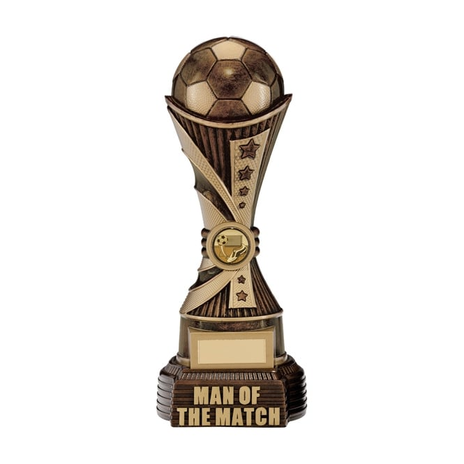 Trophies and Awards All Stars Man Of The Match Award Antique Bronze & Gold Trophy