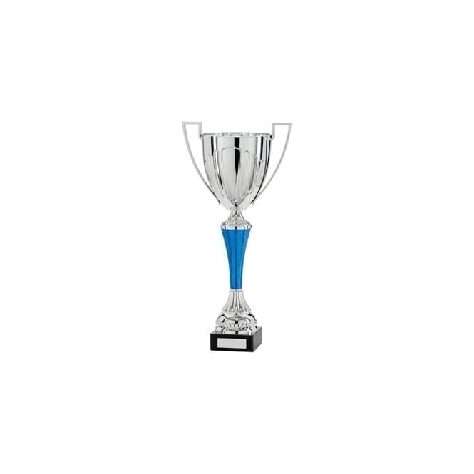 Trophies and Awards Challenger Plastic Cup Silver & Blue