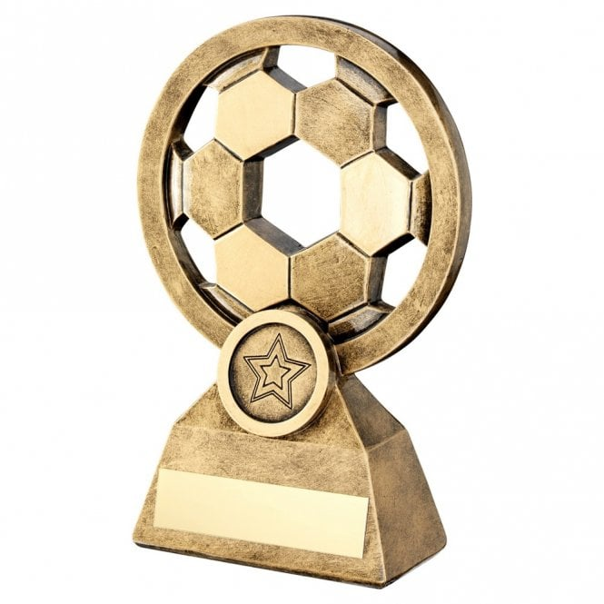 Trophies And Awards Circular Football Award With Hexagonal Design