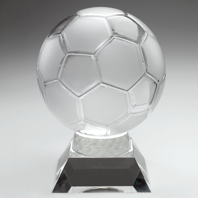 Trophies and Awards Clear Glass Football Trophy