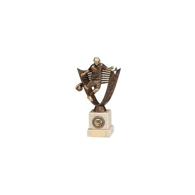 Trophies and Awards Cosmic Striker Male Antique Bronze Football Trophy