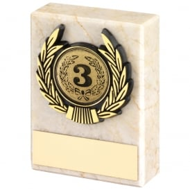 Cream Marble and Gold Trim Trophy