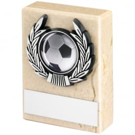 Cream Marble and Silver Trim Trophy