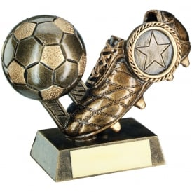 Football and Boot with stitching detail Trophy