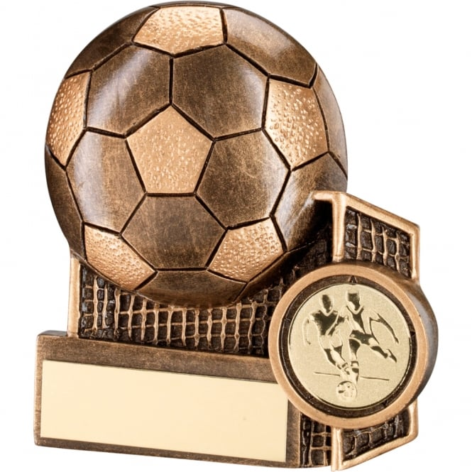 Trophies and Awards Football and Net Flatback Trophy