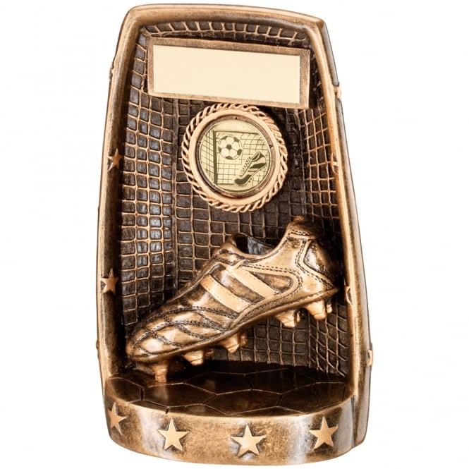 Trophies and Awards Football Boot and Net with Stars Base Trophy