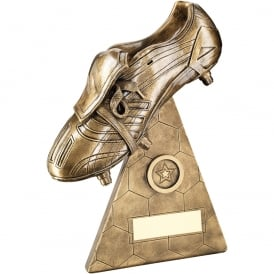 Football Boot on Pyramid Riser Trophy