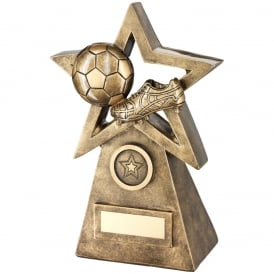 Football/Boot on Star and Pyramid Trophy
