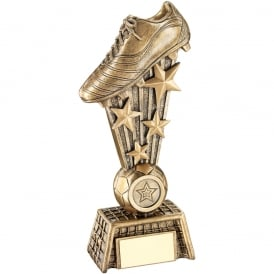 Football Boot on Stars with Net Base Trophy