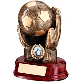 Football Goalkeeper Ball in Hand Trophy