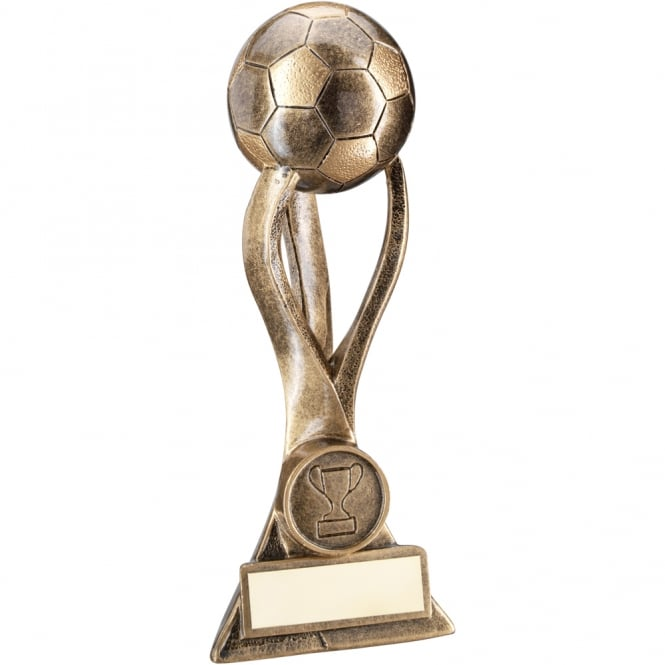 Trophies and Awards Football on 3 Pronged Riser 3D ball Trophy