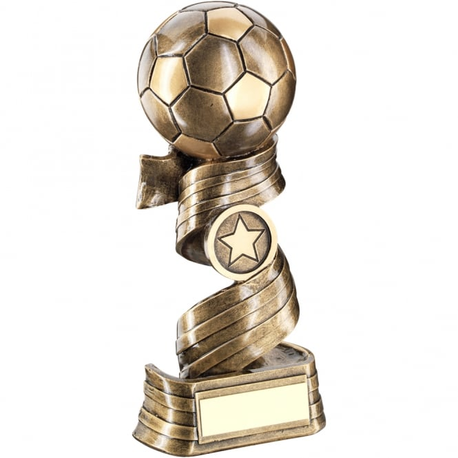 Trophies and Awards Football on Swirled Ribbon Trophy