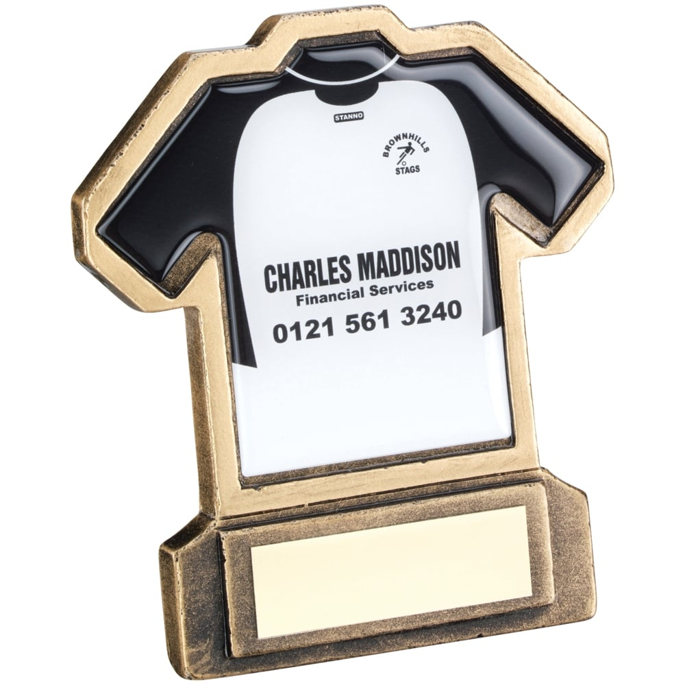 Trophies and Awards Football Shirt Trophy with your own design