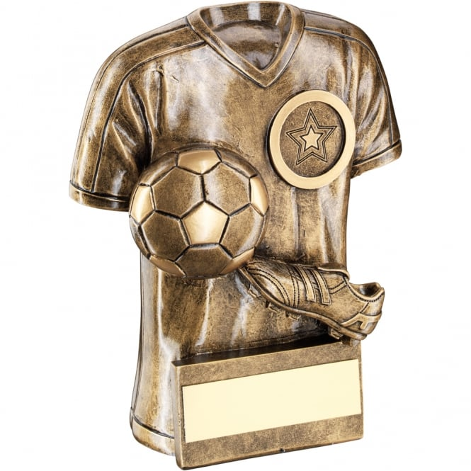 Trophies and Awards Football Shirt with Boot & Ball Trophy