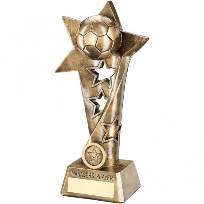 Trophies and Awards Football Twisted Star Column Trophy - Managers Player