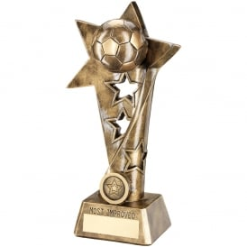 Football Twisted Star Column Trophy - Most Improved Player