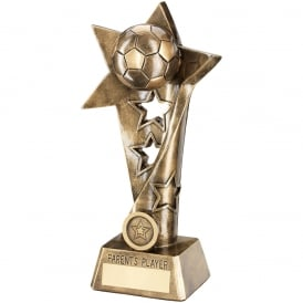 Football Twisted Star Column Trophy - Parents Player