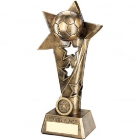 Football Twisted Star Column Trophy - Players Player
