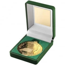 Green Velvet Box and Gaelic Football Medal