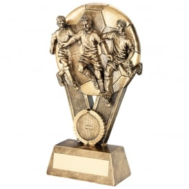 Multi Footballers on Ball Trophy