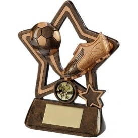 Puma Little Star Football Plaque Trophy