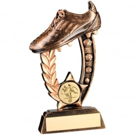 Raised Football Boot Trophy