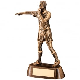 Referee Figure with Whistle Trophy