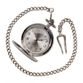 Timeless Pocket Watch Polished Steel